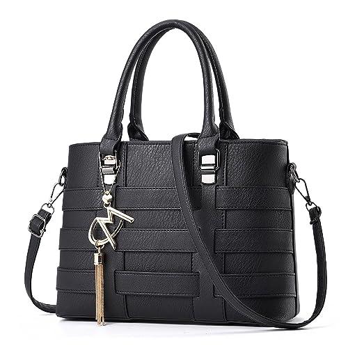 74145fdb8d726 TIBES Faux Leather Crossbody Bag Business Handbag Women Satchel Girls Black