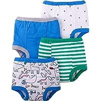 Lamaze Organic Baby Boys Pantalones de entrenamiento para bebés reutilizables y lavables, paño de algodón, paquete de 4