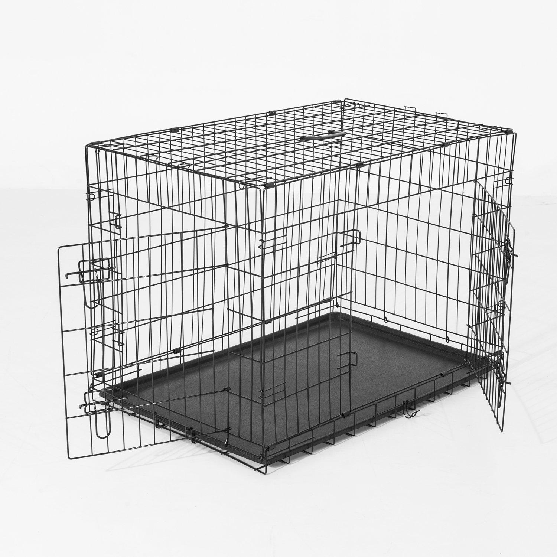 Jaula para de alambre para transporte de perros PawHut