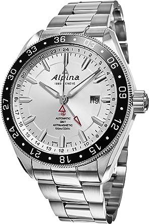 Amazoncom Alpina Alpiner GMT ALSAQB Mm Automatic Silver - Alpina gmt