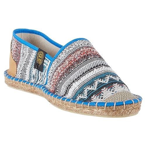 Art Of Soule | Alpargatas Planas sin Cordones - Originales y Auténticas - Fabricadas en Francia - Bohemian - Blue: Amazon.es: Zapatos y complementos