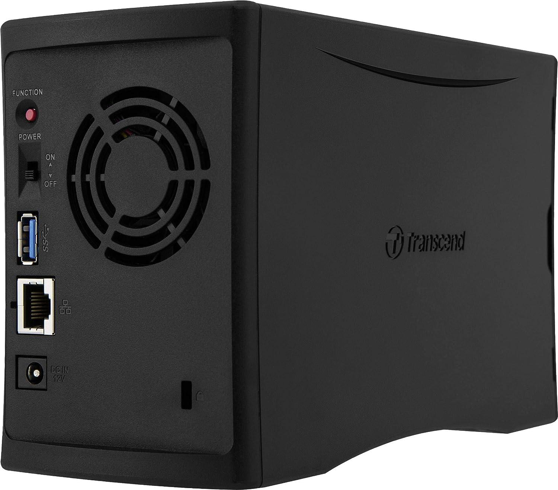Transcend StoreJet Cloud 210N Ethernet Compacto Negro NAS - Unidad Raid (Unidad de Disco Duro, Unidad de Disco Duro, Serial ATA III, 3.5