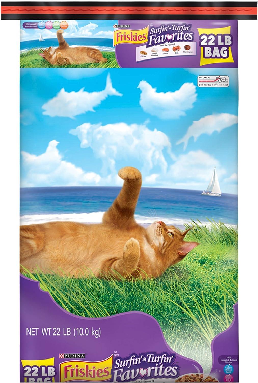 Purina Friskies Surfin' & Turfin' Favorites Adult Dry Cat Food 81ATVCyIVnL