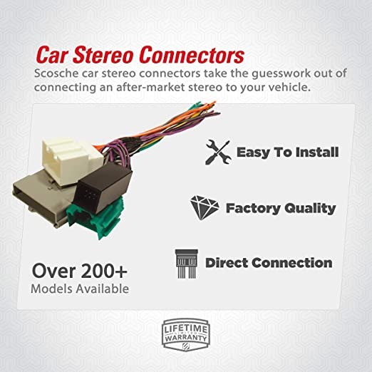 [QNCB_7524]  Amazon.com: SCOSCHE FD23B Car Speaker Wiring Harness Connector Kit  Compatible with Select 2003-Up Ford Vehicles: Car Electronics   Scosche Wiring Harness Diagrams      Amazon.com