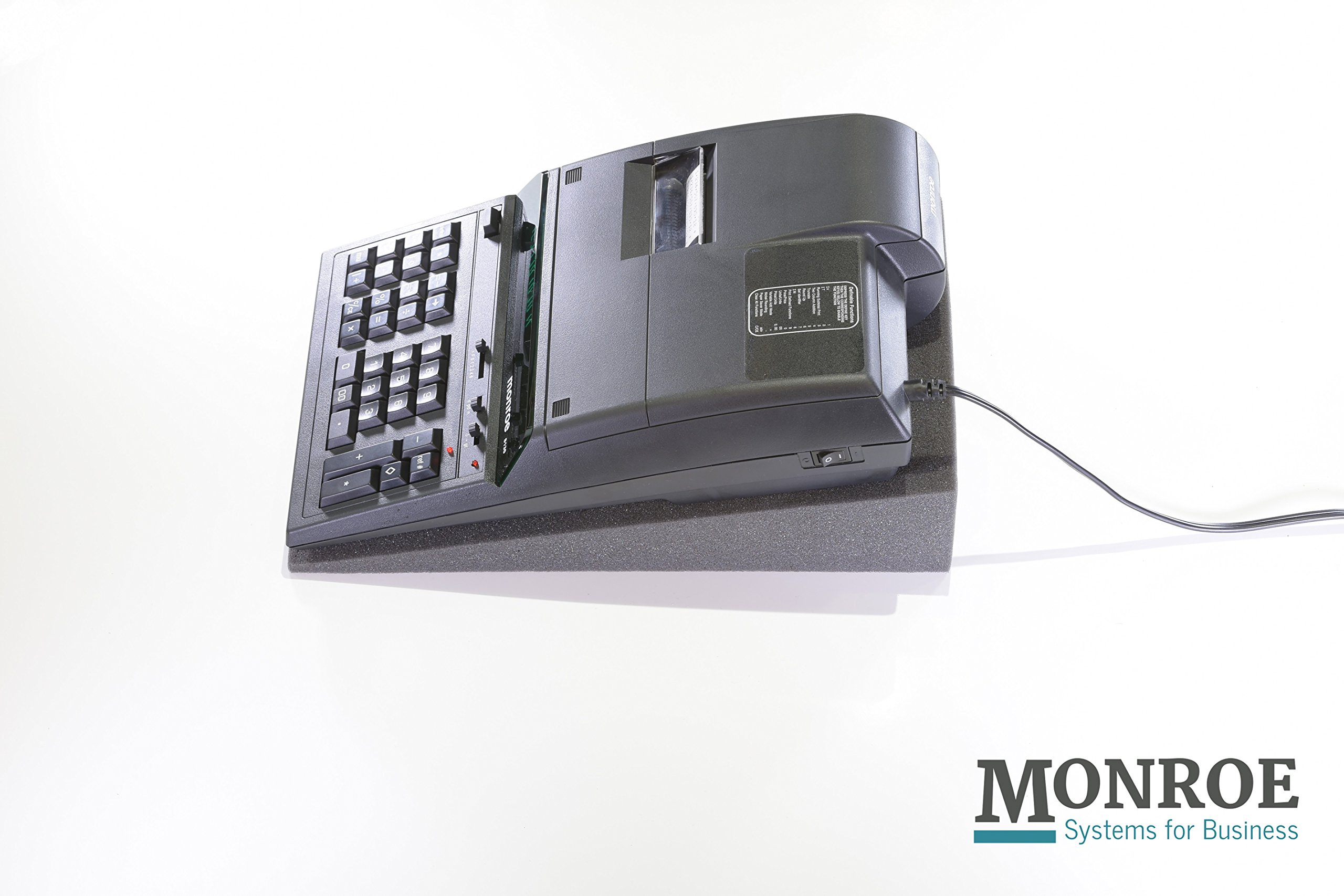 (1) Monroe 8130X 12-Digit Print/Display Professional Heavy-Duty Calculator in Black with Extended Life Calculator Body by MONROE SYSTEMS FOR BUSINESS