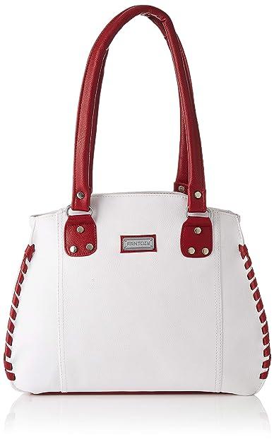 Fantosy Women s Handbag (White   Maroon) (FNB-217-1)  Amazon.in ... 21a5c1a1df