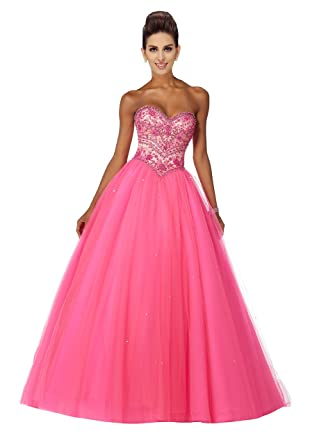 97c3849f345 Ball Gown Prom Prom Dresses Quinceanera Lace Crystal Beads Sequins Lace-up  Graduation Dress Hot