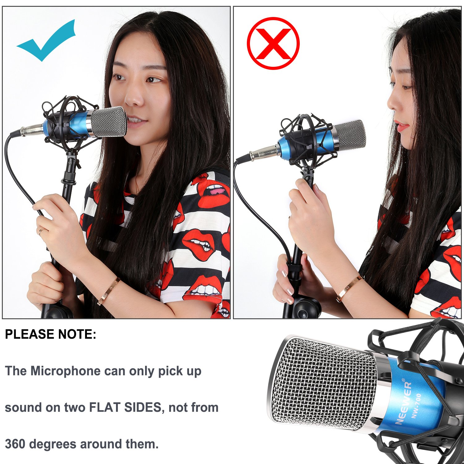 Neewer NW-700 Professional Studio Broadcasting Recording Condenser Microphone & NW-35 Adjustable Recording Microphone Suspension Scissor Arm Stand with Shock Mount and Mounting Clamp Kit by Neewer (Image #7)