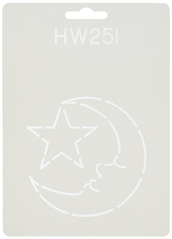 Sten Source HW-251 Quilt Stencils by Hari Walner, 3-1/2-Inch, Moon and Star