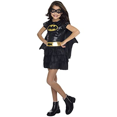 Rubie's Costume DC Superheroes Batgirl Sequin Dress Child Costume, Medium: Toys & Games