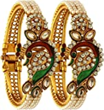 YouBella Ethnic Bollywood Gold Plated Pearl Bracelets Bangles Jewellery for Women and Girls