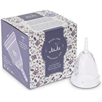 Menstrual Cup - Australian Made TGA Registered Period Cup by Juju. Alternative to Tampons & Pads. Reusable Medical Grade Silicone in 4 Sizes.