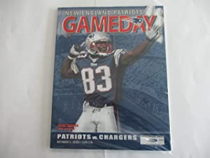 OCTOBER 2, 2005 NEW ENGLAND PATRIOTS GAMEDAY MAGAZINE FEATURING DEION BRANCH* *PATRIOTS VS. CHARGERS AT GILLETTE STADIUM*