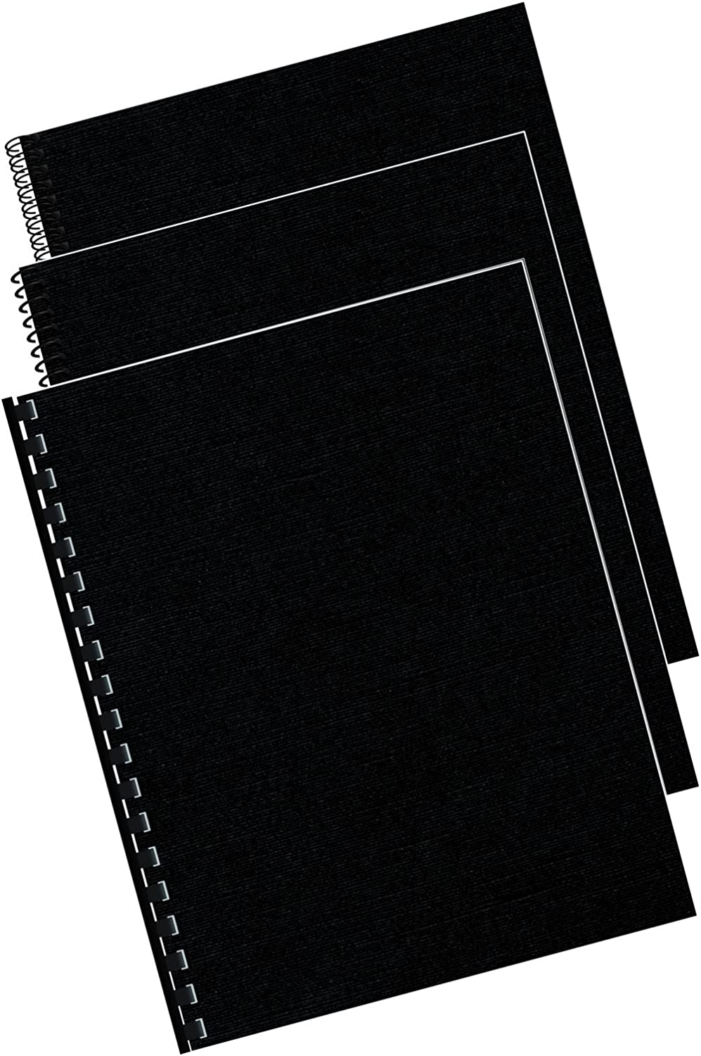 Fellowes Binding Linen Presentation Covers, Letter, Black, 200 Pack (5217001) : Binding Covers : Office Products