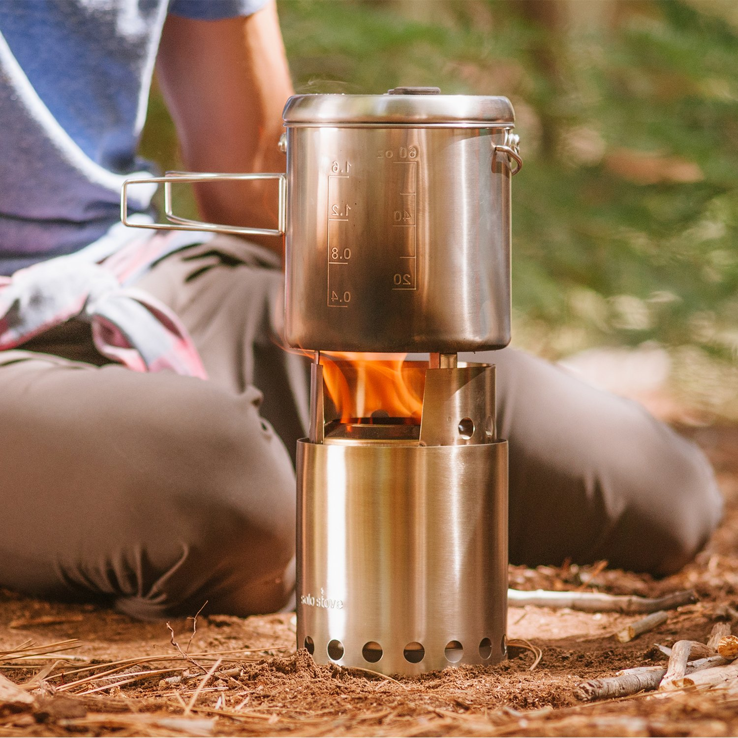 Solo Stove Titan & Solo Pot 1800 Camp Stove Combo: Woodburning Backpacking Stove Great for Camping and Survival by Solo Stove (Image #7)