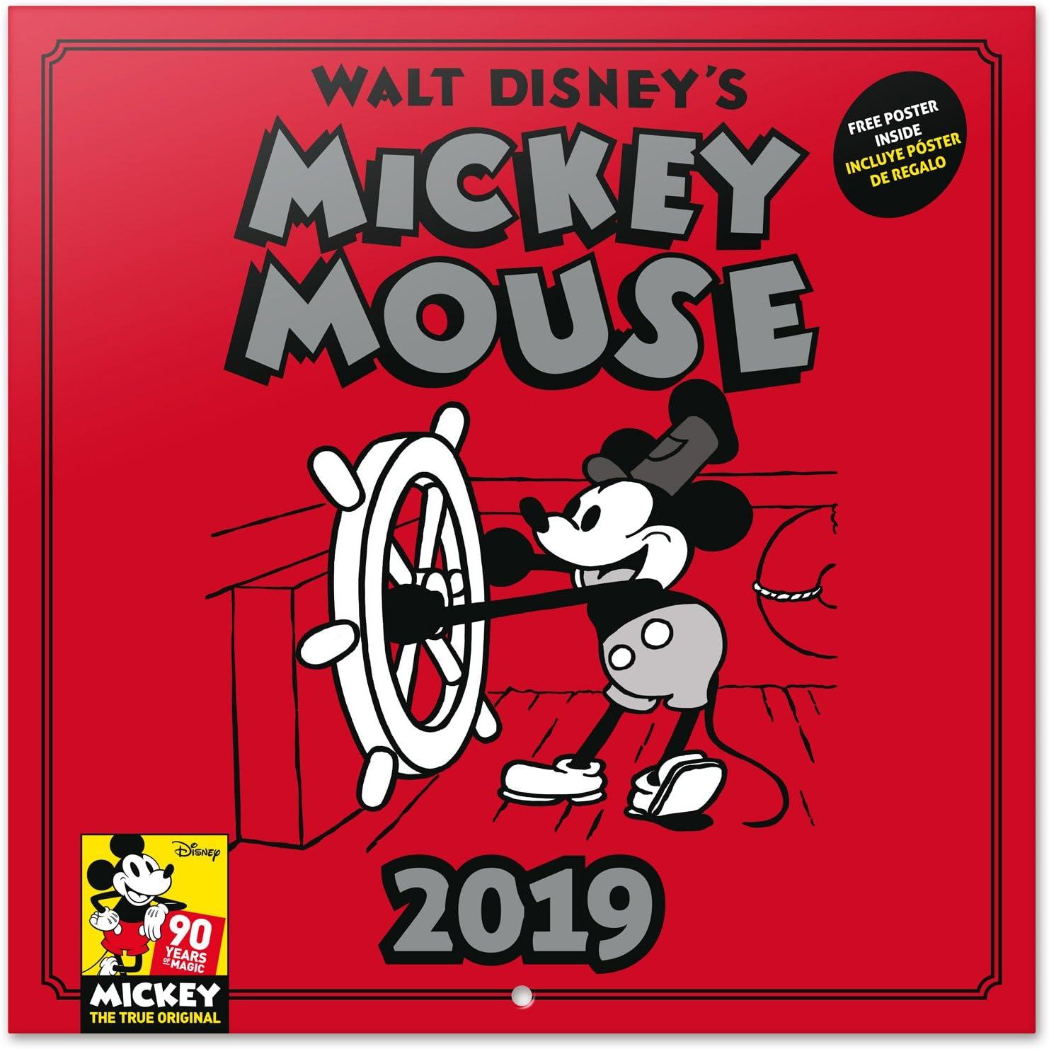 Grupo Erik - Calendario Da Muro 2019 Mickey 90 Anniversary 30 X 30 Cm