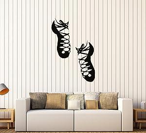 DesignToRefine Vinyl Wall Stickers Irish Dance Ireland Celtic Stepdance Ghillies Mural (162ig) White