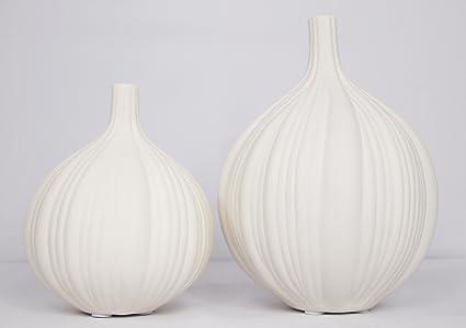Amazon White Garlic Clove Vase Set Of 2 Home Kitchen
