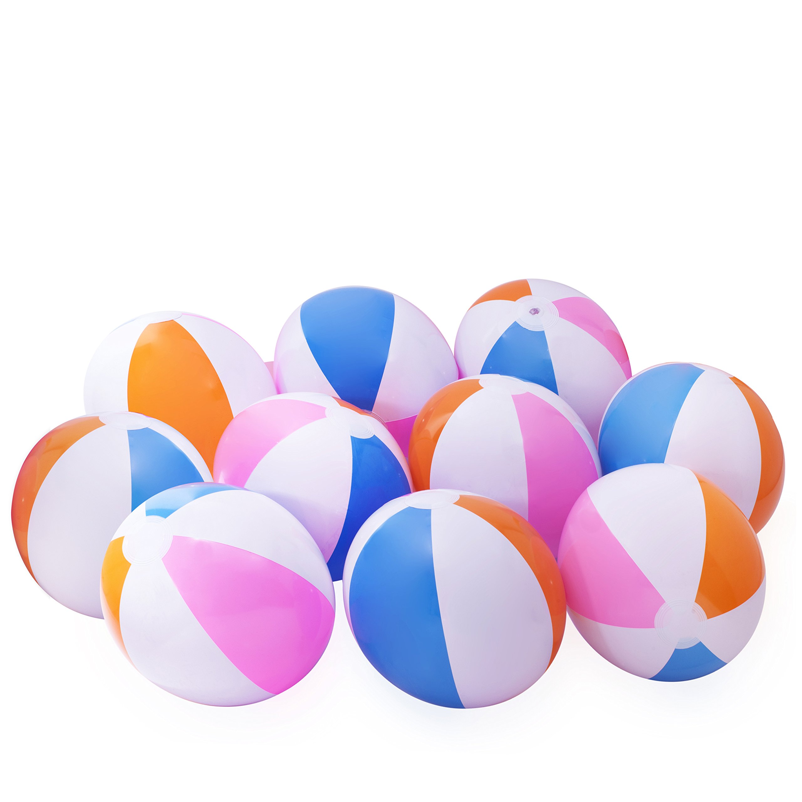10 Beach Balls Inflates - Approx. 16'' (Inch)
