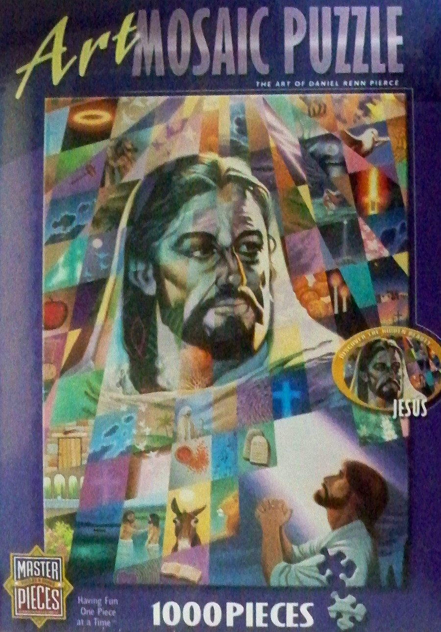 Art Mosaic 1000 Piece Jesus Puzzle Featuring the Art of Daniel Renn Pierce Master Pieces Puzzles and Games