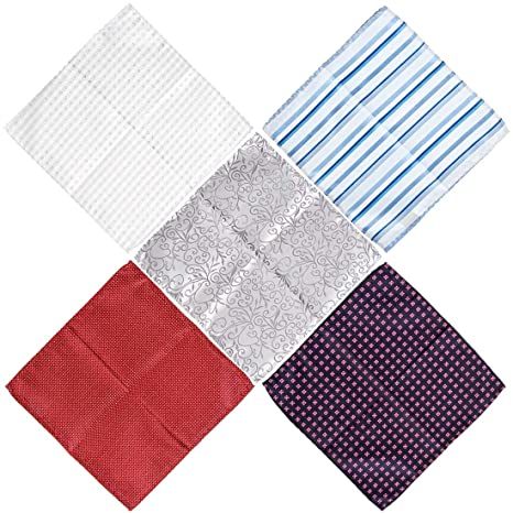 44c3343930940 BMC Mens 5 pc Mixed Pattern Design Handmade Fabric Handkerchief Accessory  Fashion Pocket Squares - Set 2: Keeping Classy: Amazon.ca: Luggage & Bags