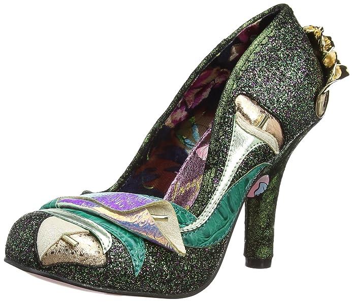 4331-14 - Zapatos de tacn con Punta Cerrada de Material Sintético Mujer, Color Negro, Talla 41 Irregular Choice