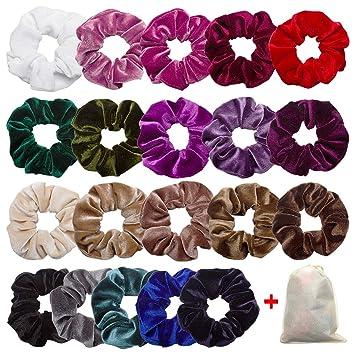 8804c8941a8 Amazon.com   Ondder 20 Pack Velvet Scrunchies
