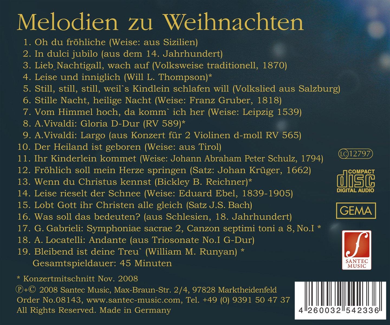 Bekannte Weihnachtslieder Englisch.Melodien Zu Weihnachten
