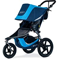 BOB Gear Revolution Flex 3.0 Jogging Stroller - Up to 75 pounds - UPF 50+ Canopy - Adjustable Handlebar - Easy Fold, Glacier Blue