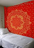 Madhu International Mandala Gold Tapestries