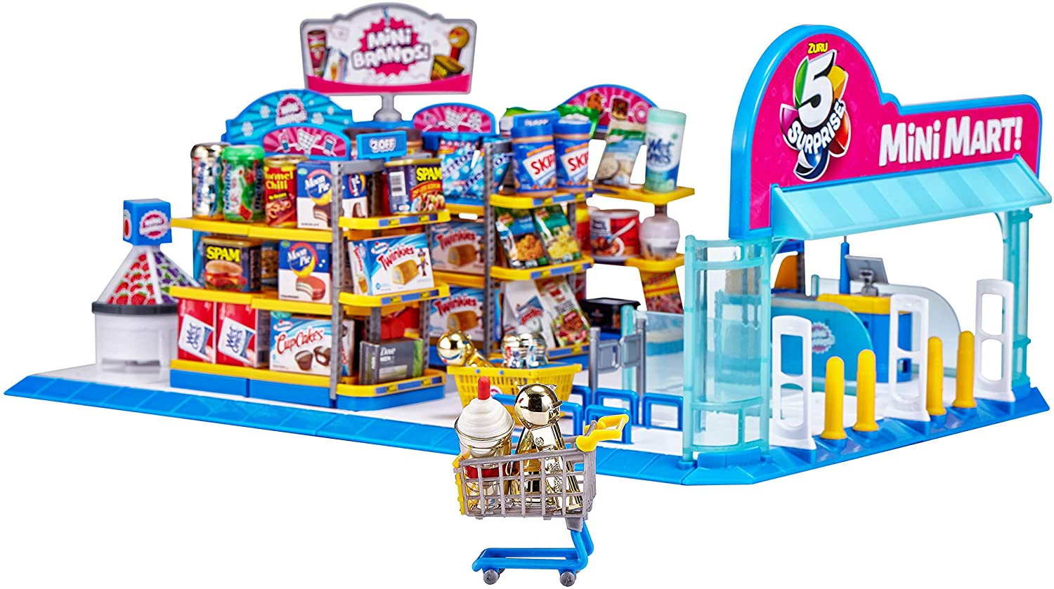 ZURU 5 SURPRISE 77108 Electronic Mart with 4 Mystery Mini Brands Playset