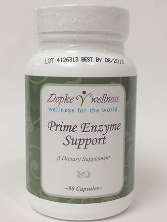 Amazon.com: depke Wellness Prime enzima Apoyo, Cápsulas, 90 ...