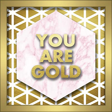 Linden Ave AVE10367 You are Gold Shadowbox Wall Art - - Amazon.com