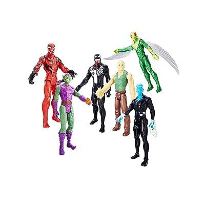 "Marvel Titan Hero Series 4 Figure Set 12/"" Green Goblin Venom Spider Man Electro"