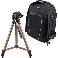 DURAGADGET Zaino Multiscomparti + Treppiede Professionale per Fotocamere Fujifilm X-A3, Fujifilm X-A5, Fujifilm X-E2S, Fujifilm X-E3, Fujifilm XF10
