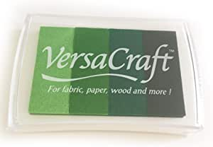 Versacraft Green Ink Pad For Fabric, Paper, Wood And More