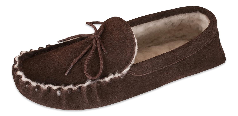 Nordvek - Pantoufles % femme style en mocassins - femme - 100 % peau de mouton - semelles en daim léger - # 429-100 Chocolat 75ad439 - shopssong.space