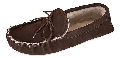Nordvek Premium Ladies 100 Sheepskin Moccasin Slippers Soft Suede Sole   429100