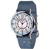 EasyRead Time Teacher 子供用腕時計 12時間&24時間表示 レッド ブルー グレーの文字版 グレーのベルト