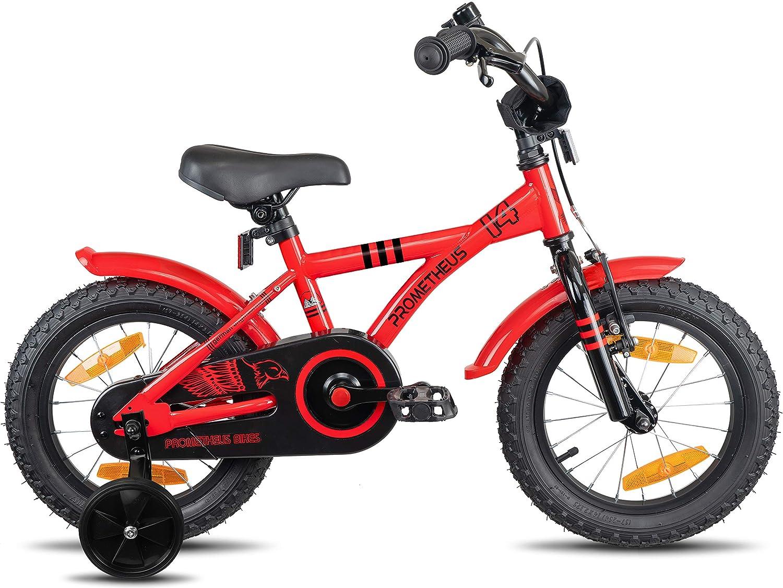 Prometheus Bicicleta Infantil | 14 Pulgadas | niño y niña | Rojo ...