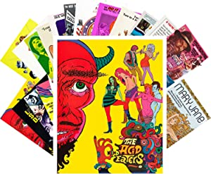 Postcard Set 24pcs Hippie and Psychedelic Movies Vintage Film Posters
