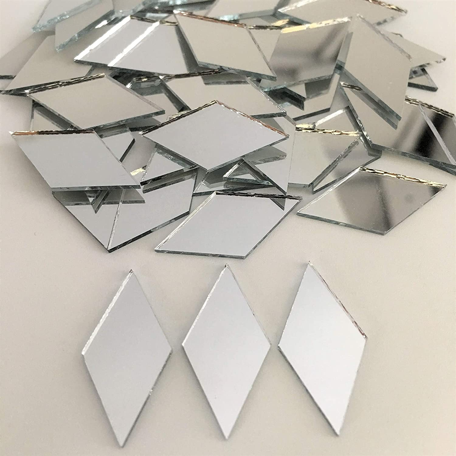 Grey Sparkle Easy /& Fun to craft Great for adults /& kids Mosaic Mirror kit