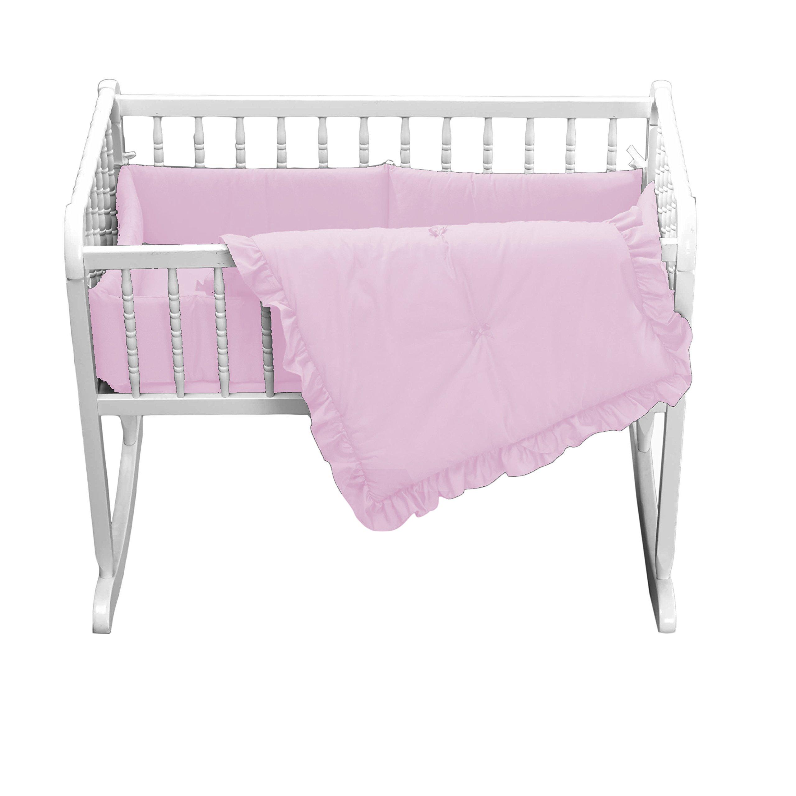 Babydoll Primary s Cradle Bedding, Pink, 15''x33''
