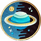 Saturn Stars Universe Embroidered Iron on Patch