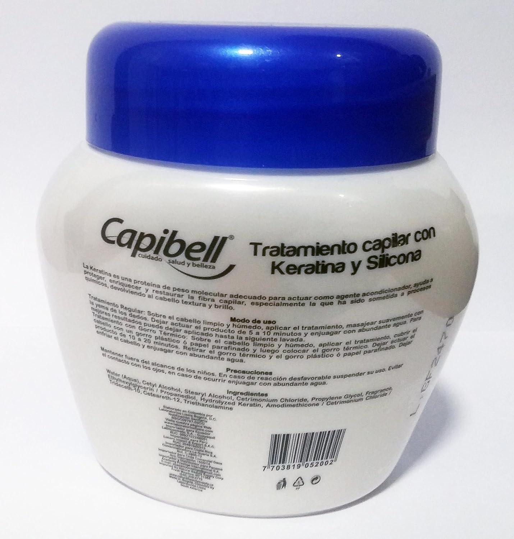 Amazon.com: Capibell Keratina Y Silicona Tratamiento Capilar 530 G: Beauty