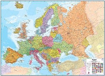 Amazoncom Maps International Europe Wall Map Laminated Toys - Amazon maps