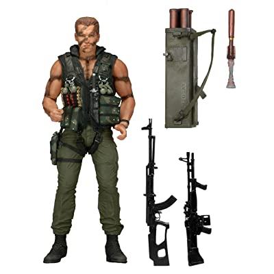 """NECA Commando Scale 30th Anniversary Ultimate John Matrix Action Figure, 7"""": Toys & Games"""