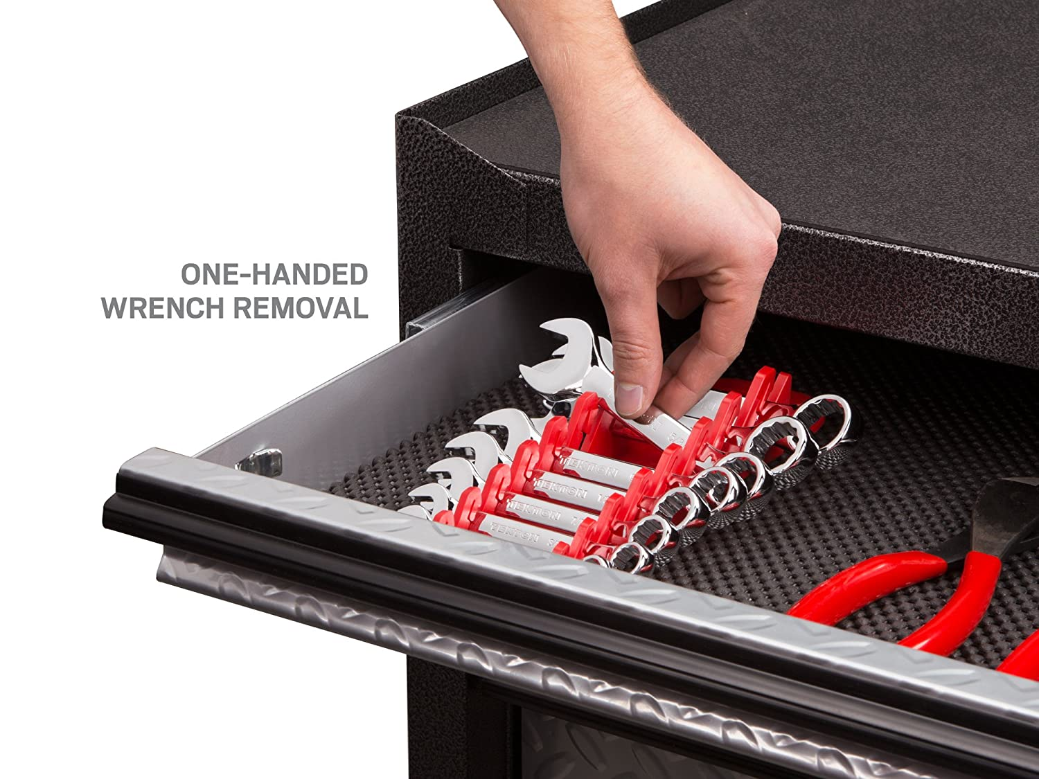 TEKTON ORG21212 12-Tool Store and Go Stubby Wrench Keeper Red