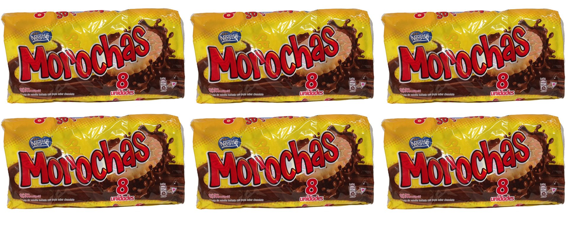 Morochas Galletas del Peru 6 Pack of 8 bags of 32 gr each