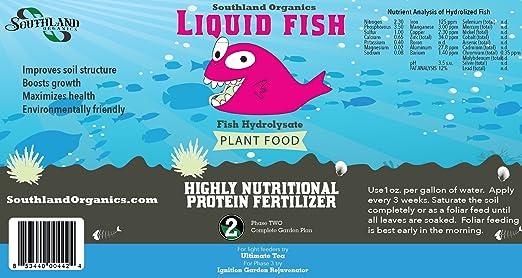 Amazon.com: Fertilizante líquido peces: Jardín y Exteriores